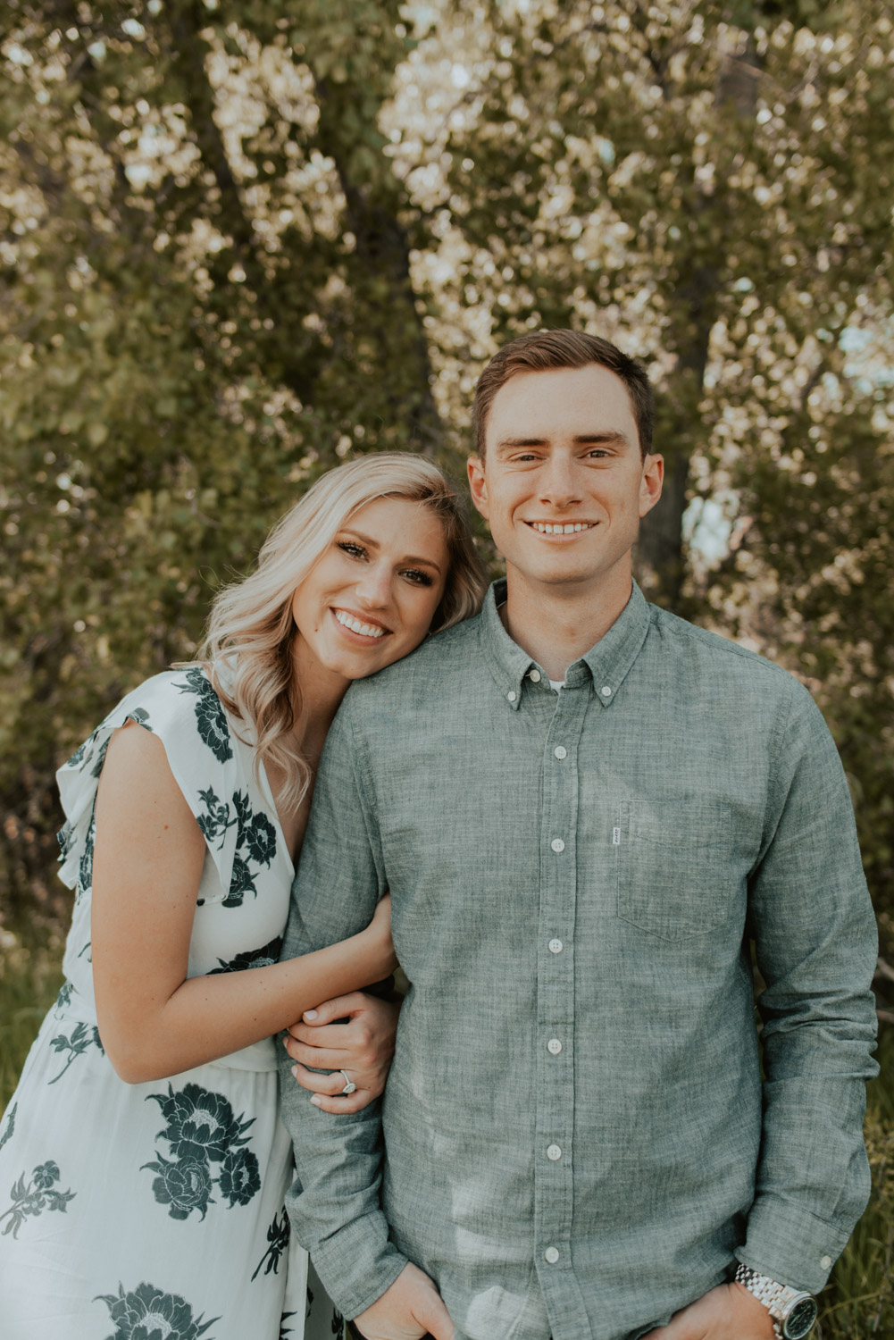 savannah + hank are from colorado, but had some free time in lincoln, nebraska while in town for wedding and took advantage of one of the first bright warm days of summer for their engagement session!