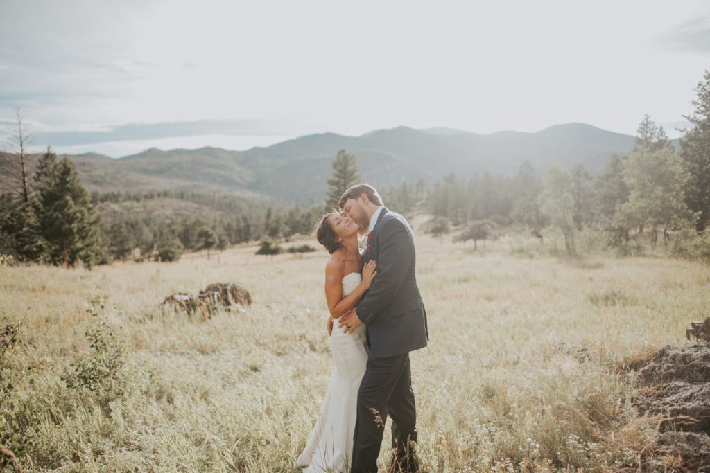 bride and groom at wedding in belleview fort collins colorado