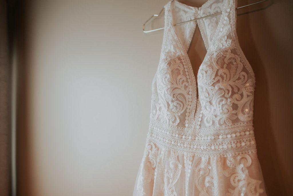 wedding dress details from wedding details at ackerhurst barn wedding in omaha, nebraska