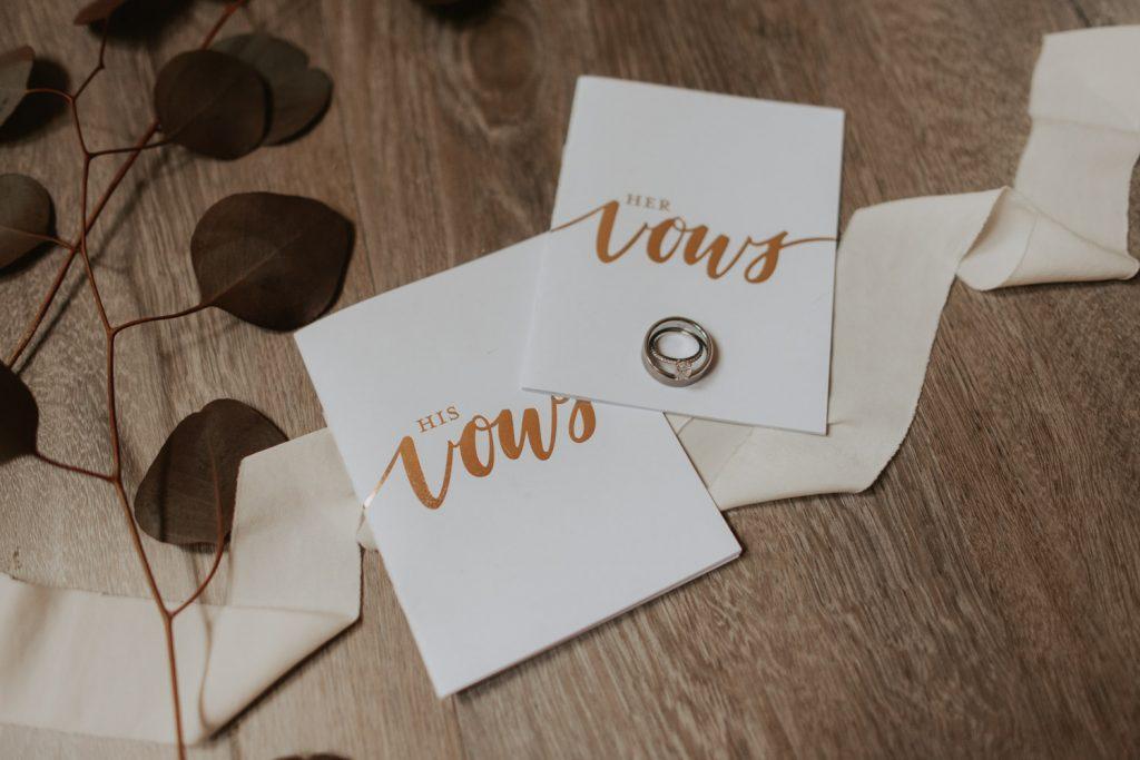 voe books from wedding details at ackerhurst barn wedding in omaha, nebraska