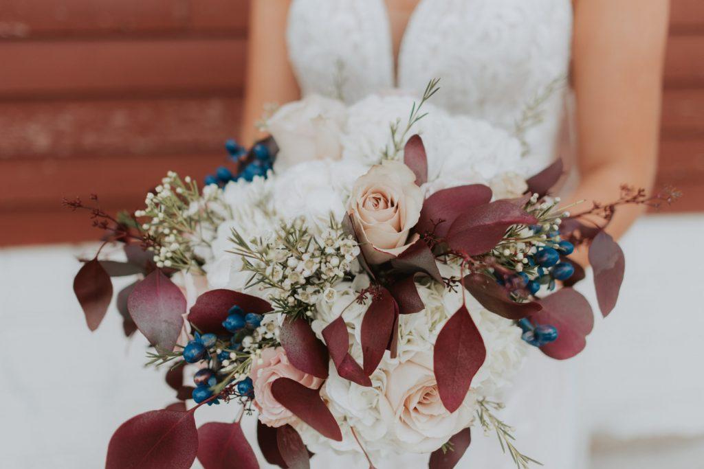 bridal bouquet from ackerhurst barn wedding in omaha, nebraska