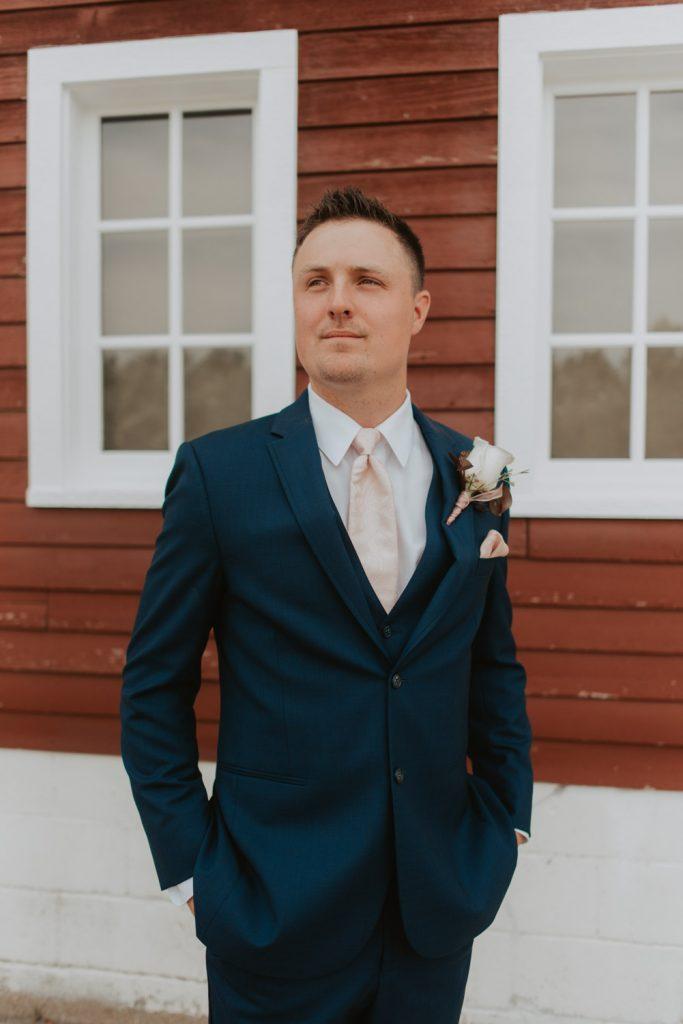 groom from ackerhurst barn wedding in omaha, nebraska