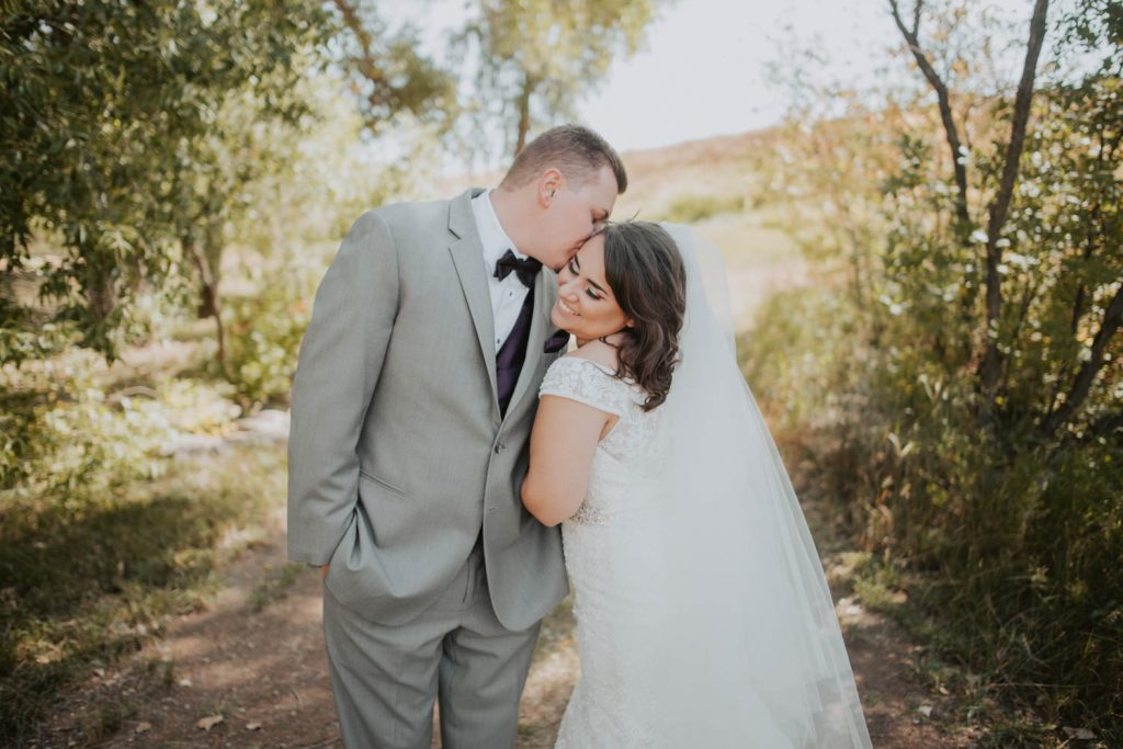 bride and groom from wedding at horsetooth in fort collins colorado