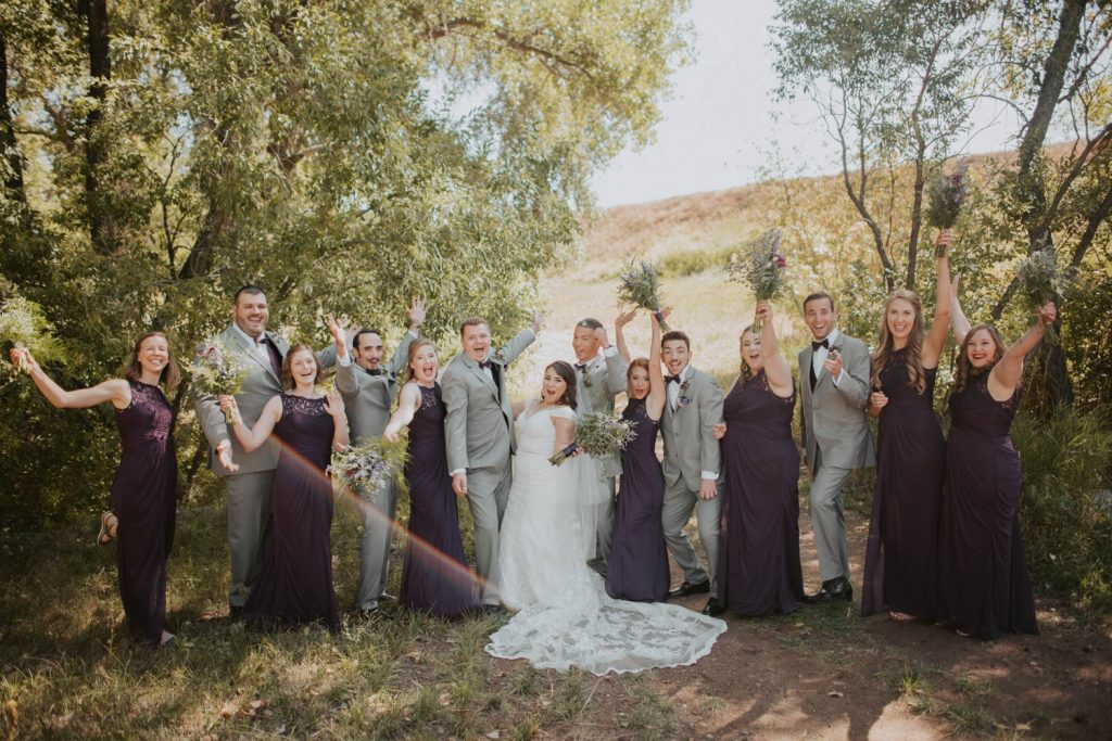 bridal party from wedding at horsetooth in fort collins colorado