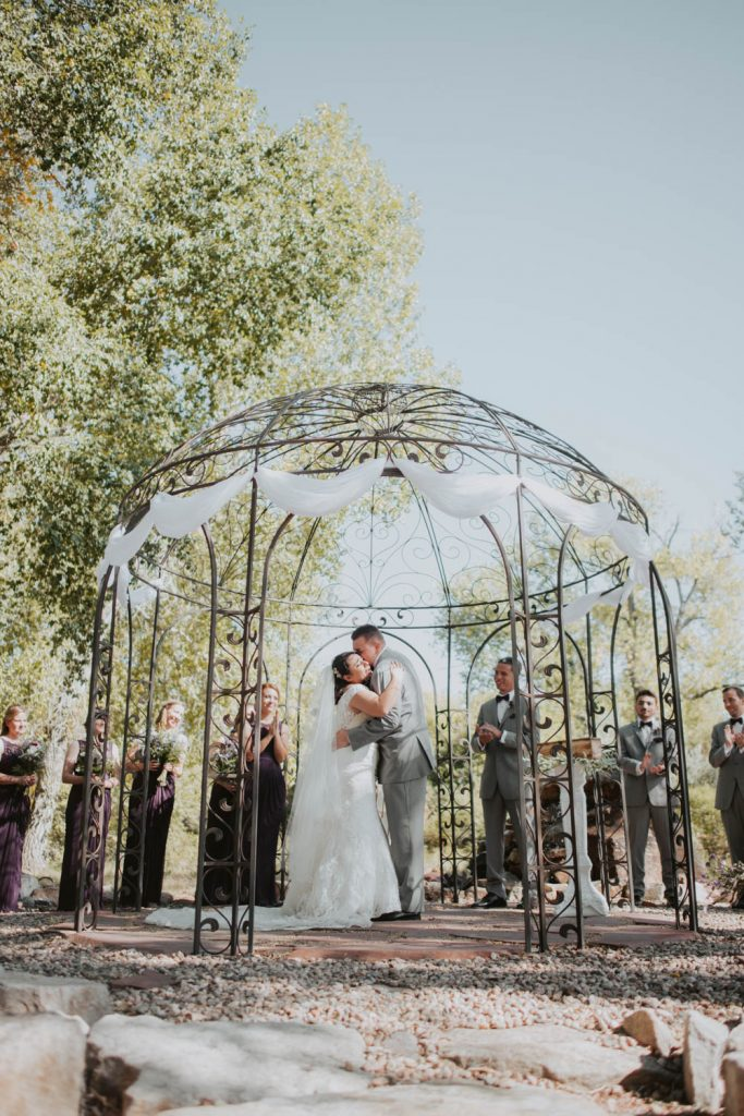 wedding ceremony at horsetooth in fort collins colorado