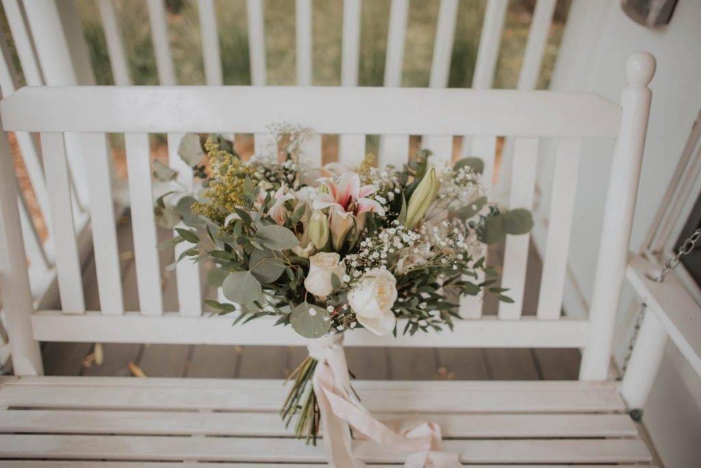 bridal bouquet details from wedding  racoon creek in littleton colorado