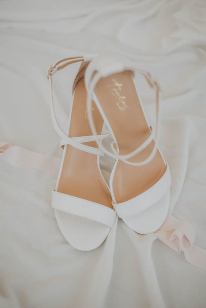 shoes details from wedding  racoon creek in littleton colorado