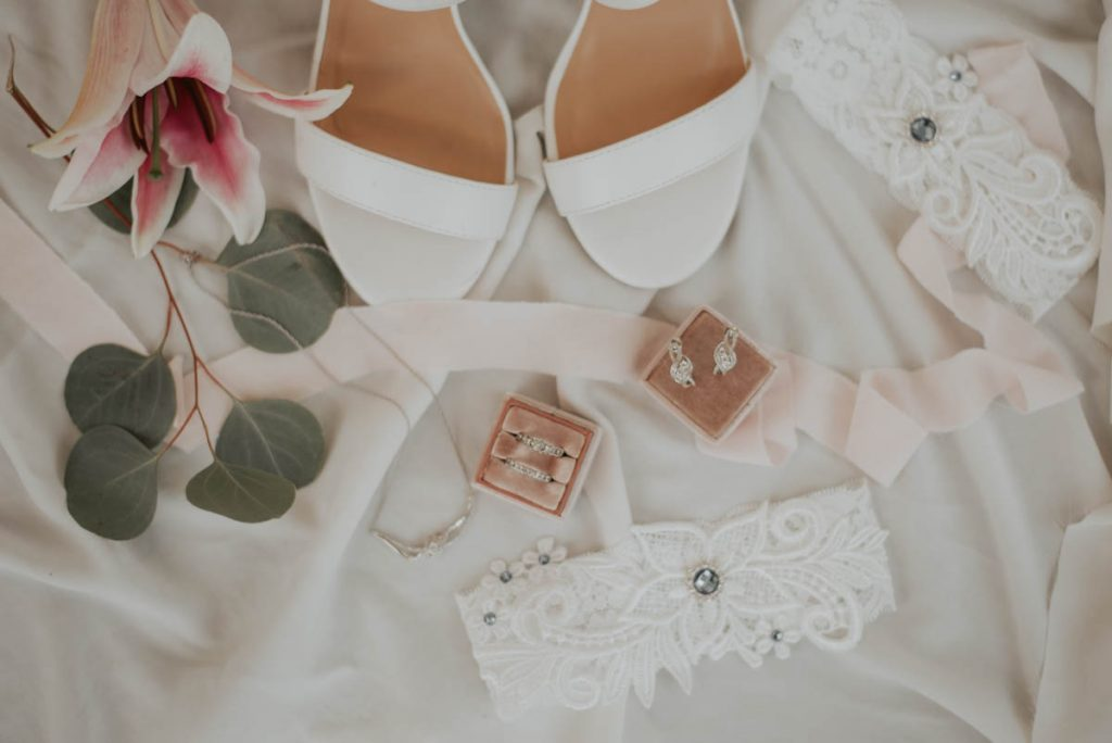 ring and shoes details from wedding  racoon creek in littleton colorado