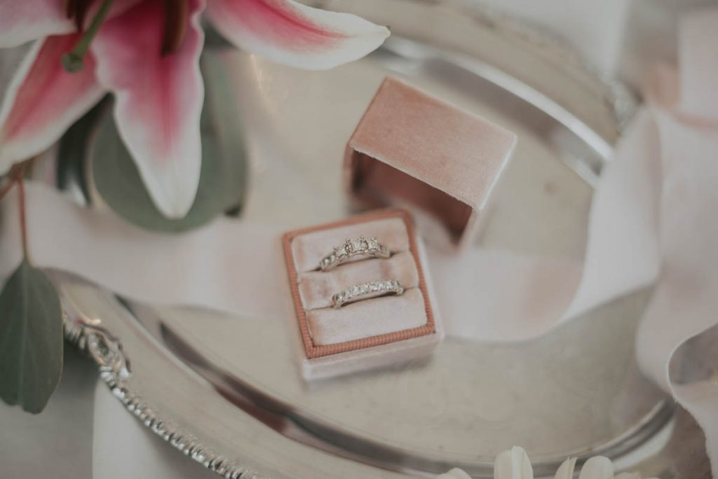 ring details from wedding  racoon creek in littleton colorado