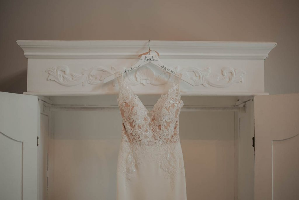 bridal gown from wedding  raccoon creek in littleton colorado