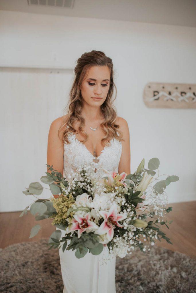 bridal bouquet details from wedding  raccoon creek in littleton colorado