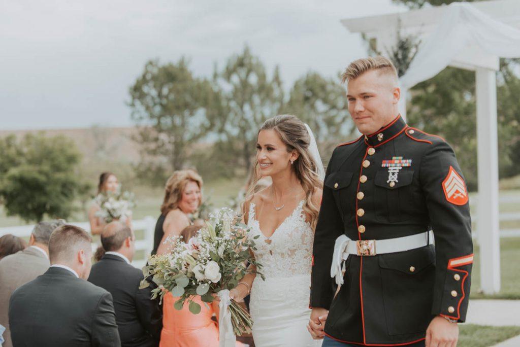 wedding ceremony at raccoon creek in littleton colorado