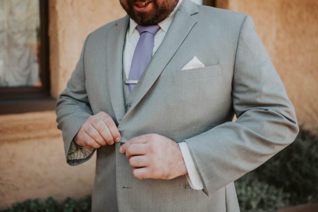groom getting ready from wedding at villa parker in denver colorado