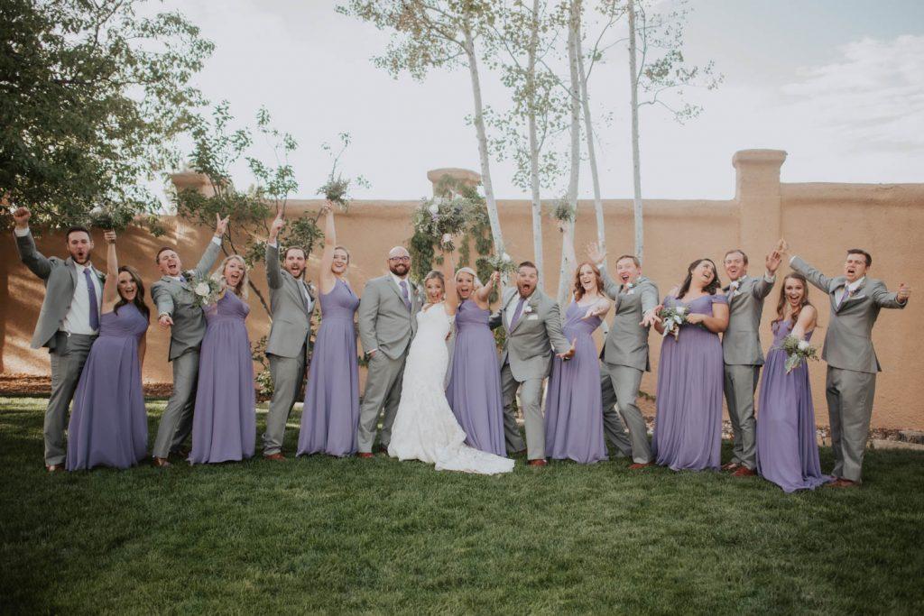 bridal party from wedding at villa parker in denver colorado