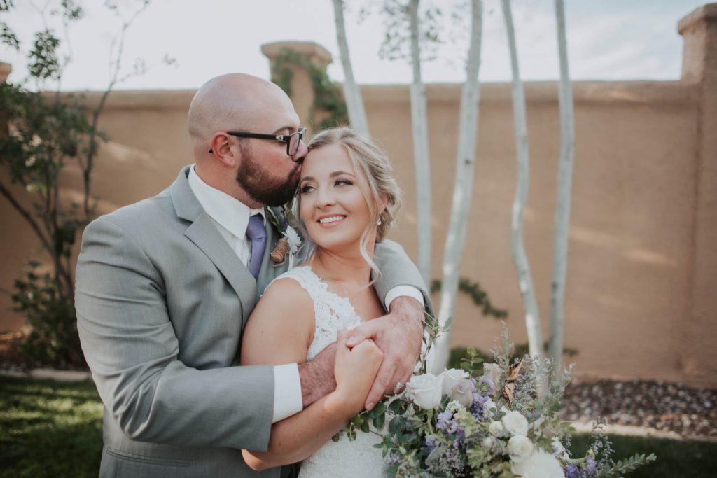 bride and groom from wedding at villa parker in denver colorado