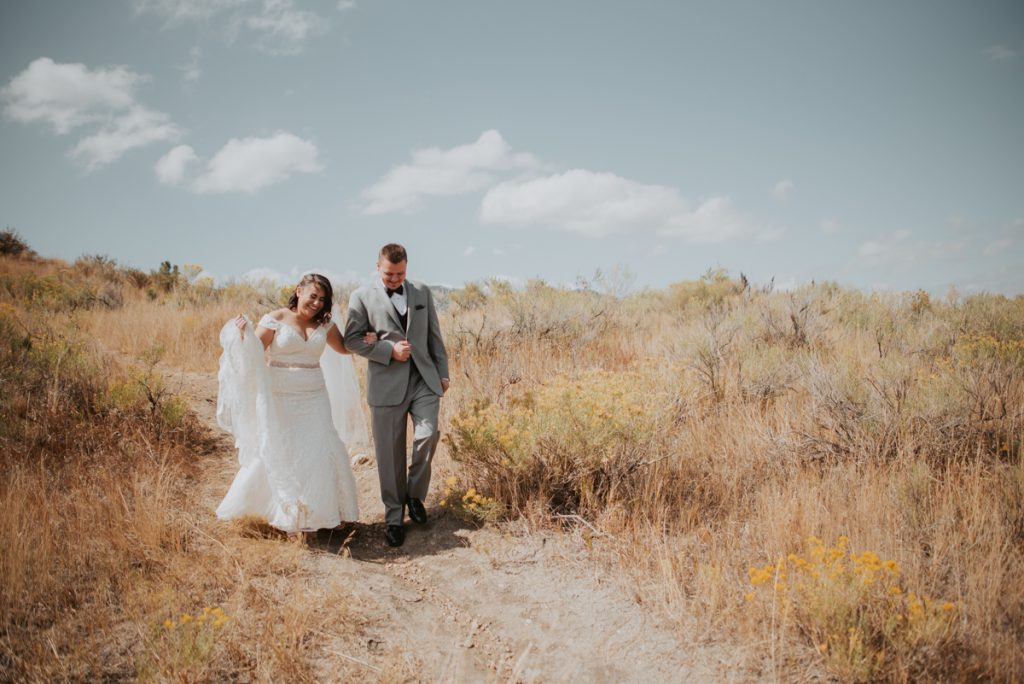 bride and groom first look at wedding at horsetooth reservoir in fort collins colorado