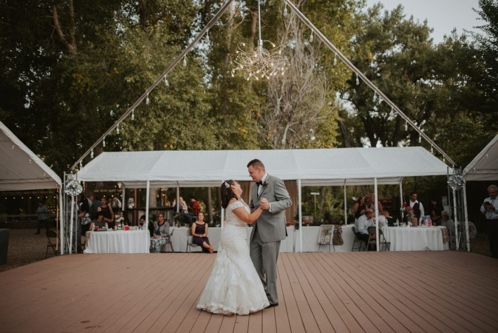 first dance at wedding at horsetooth reservoir in fort collins colorado