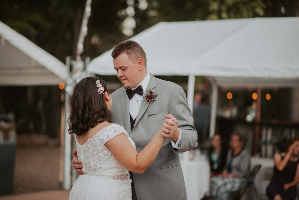 first dance from wedding at horsetooth reservoir in fort collins colorado