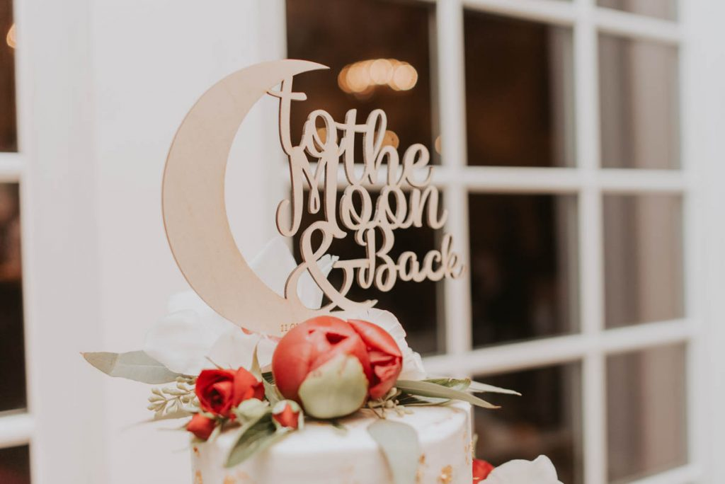 cake topper details at wedding in littleton colorado at manor house