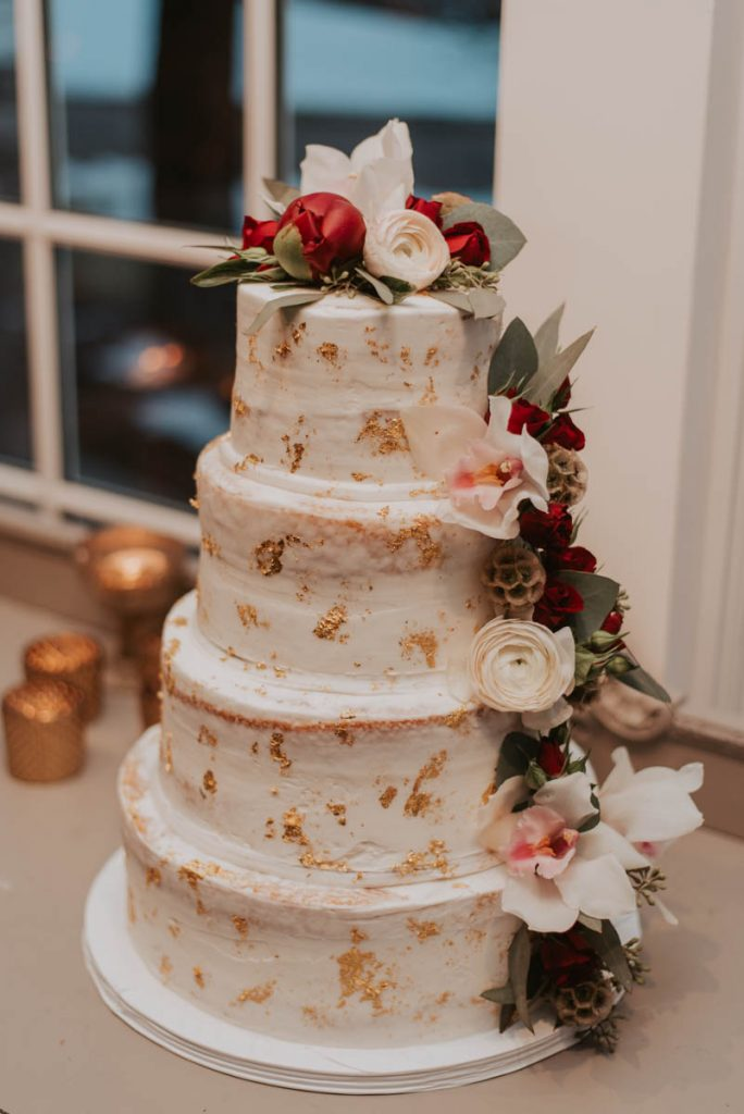 cake details at wedding in littleton colorado at manor house